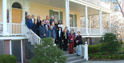 Volunteers visit Gracie Mansion