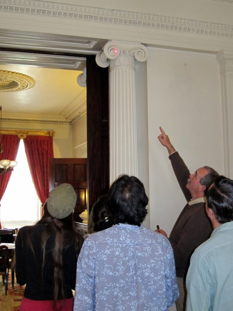 Guided group tours at the Merchant's House