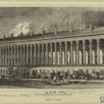 Colonnade row in 19th century New York City
