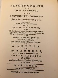 free thoughts continental congress
