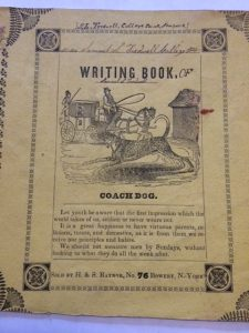 Samuel Tredwell's Writing Book, 1843. (MHM Archives.)