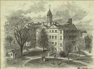 New York Hospital, 1791. (digitalcollections.nypl.org).