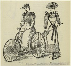 New Woman's Cycling and Tennis Outfits, 1861 (NYPL)
