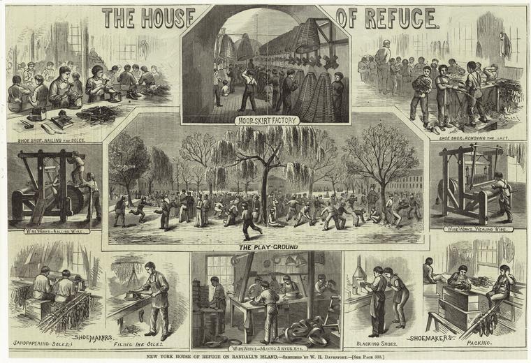 New York House of Refuge on Randall's Island, 1868. (http://images.google.com).