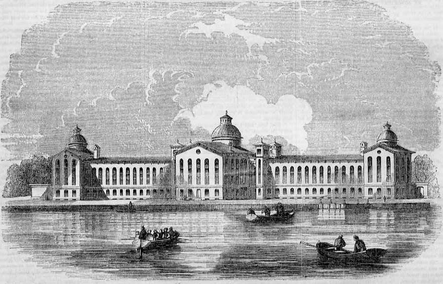 New York House of Refuge, Randall's Island, 1855. (http://images.google.com).
