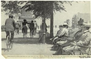Men and Women Cycling on Riverside Drive, 1898 (NYPL)