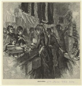 Shop Girls, 1880 (NYPL)