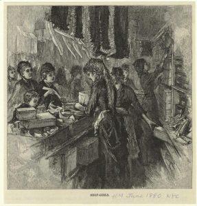 Shop Girls, 1880 (NYPL)