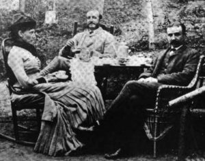 Dr. Luis Walton (on right), with Dr. and Mrs. Edward Trudeau, circa 1880. (https://localwiki.org).