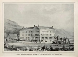 White Mountain Station House, J.R. Hitchcock and Co., c. 1860, lithograph. Museum of the White Mountains, Plymouth State University.