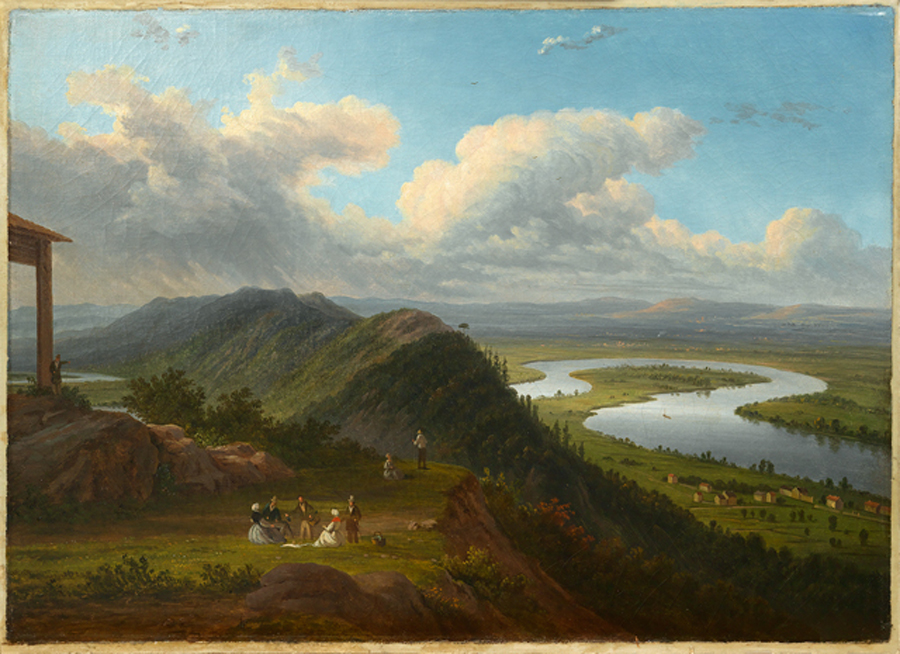 The Ox Bow of the Connecticut River from Mount Holyoke by Victor de Graily, ca. 1840.
