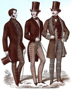 "Men's Fashions, ""Il Gionale dei Sarti,"" August 1853"