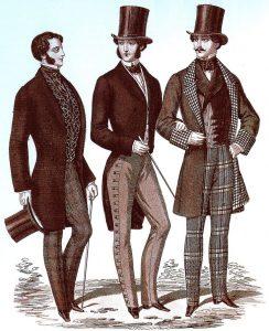 """Men's Fashions, """"Il Gionale dei Sarti,"""" August 1853"""