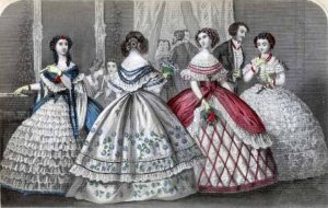 Holiday Dresses. Godey's Lady's Book, December, 1859.
