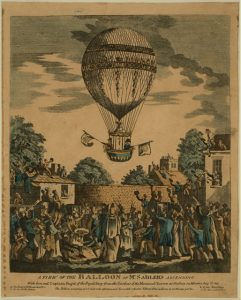 A View of the Balloon of Mr. Sadler's Ascending, 1811. (loc.gov)