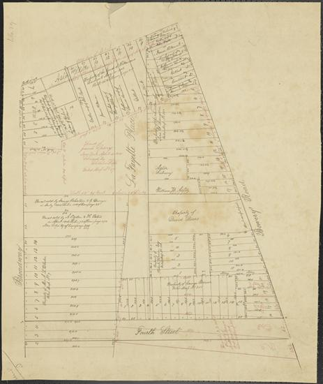 Lots Showing Original Sperry Land, n.d. collections.mcny.org. (Note location of Lafayette Place bisecting the garden)