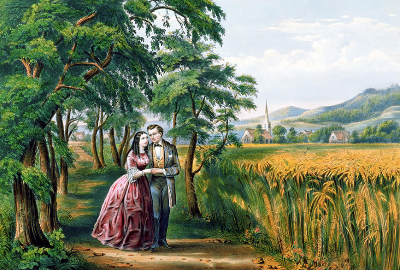 "Currier & Ives. ""Youth: The Season of Love,""  1868."