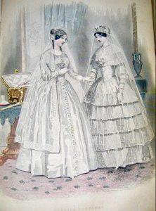 Wedding Costume, Godeys Ladys Book, 1840.