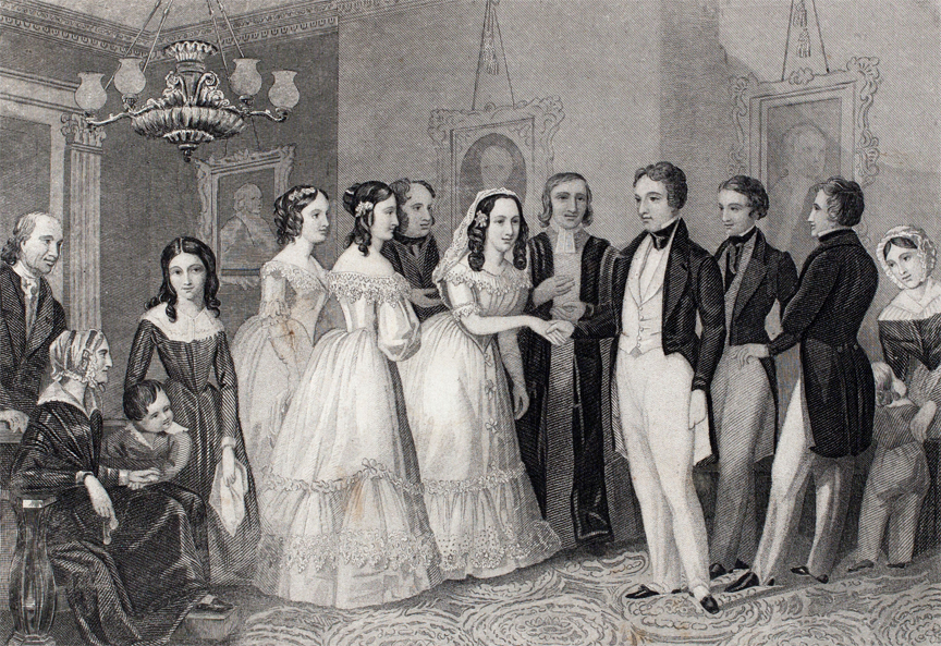 """The Wedding,"" 1855, by John Forrest."