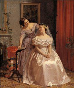 Henrik Olrik, The Bride Adorned by Her Friend, 1850.