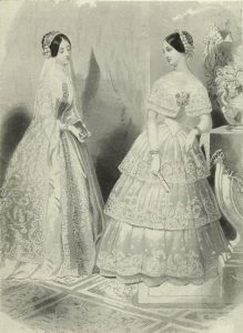 The Bride and Bridesmaid, 1846. Digital Collections, NYPL.