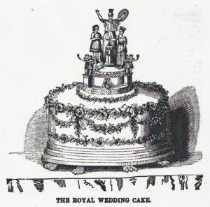 Queen Victoria's Wedding Cake, 1840.