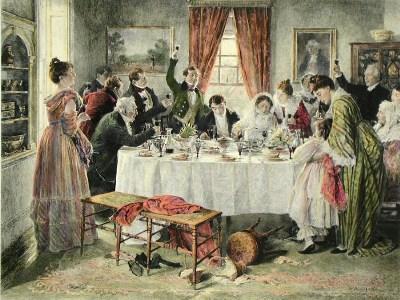 (Artist Unknown). The Wedding Feast, c. 1850.