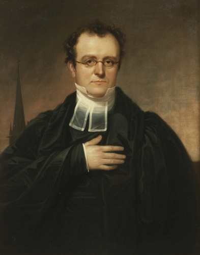 Bishop Benjamin Tredwell Onderdonk, by William Sidney Mount, ca. 1830-1833. NY-HS.