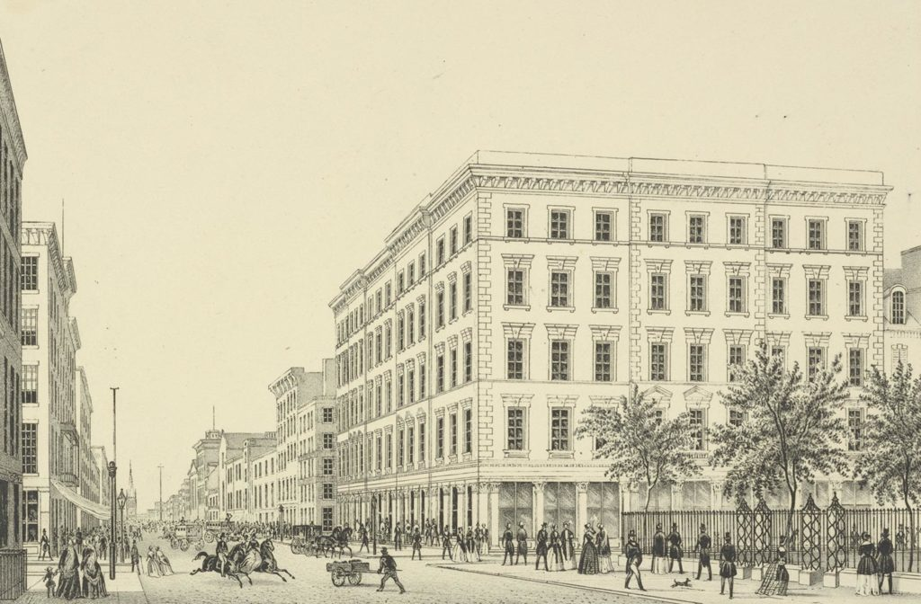 A.T. Stewarts Department Store, 280 Broadway, ca. 1850 (NYPL)