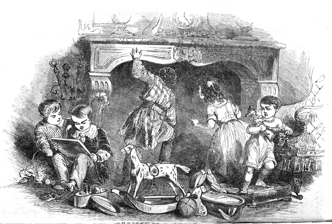 """Christmas Morning,"" Godey's Lady's Book, December, 1850."