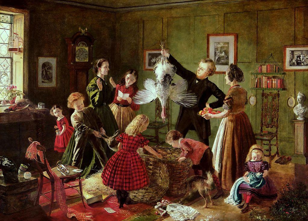 """The Christmas Hamper,"" by Robert Braithwaite Martineau, ca. 1850"