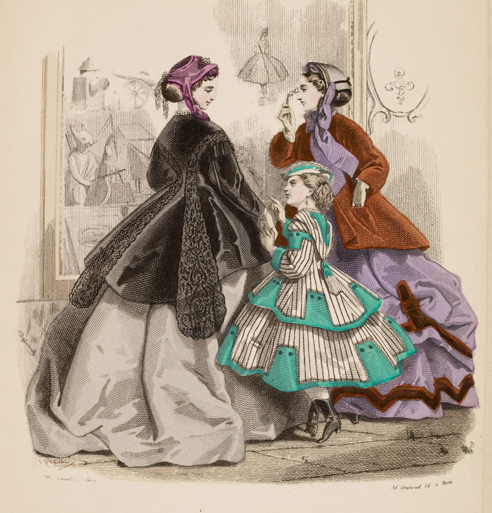 "Window Shopping, ""The Englishwoman's Domestic Magazine,"" 1866."