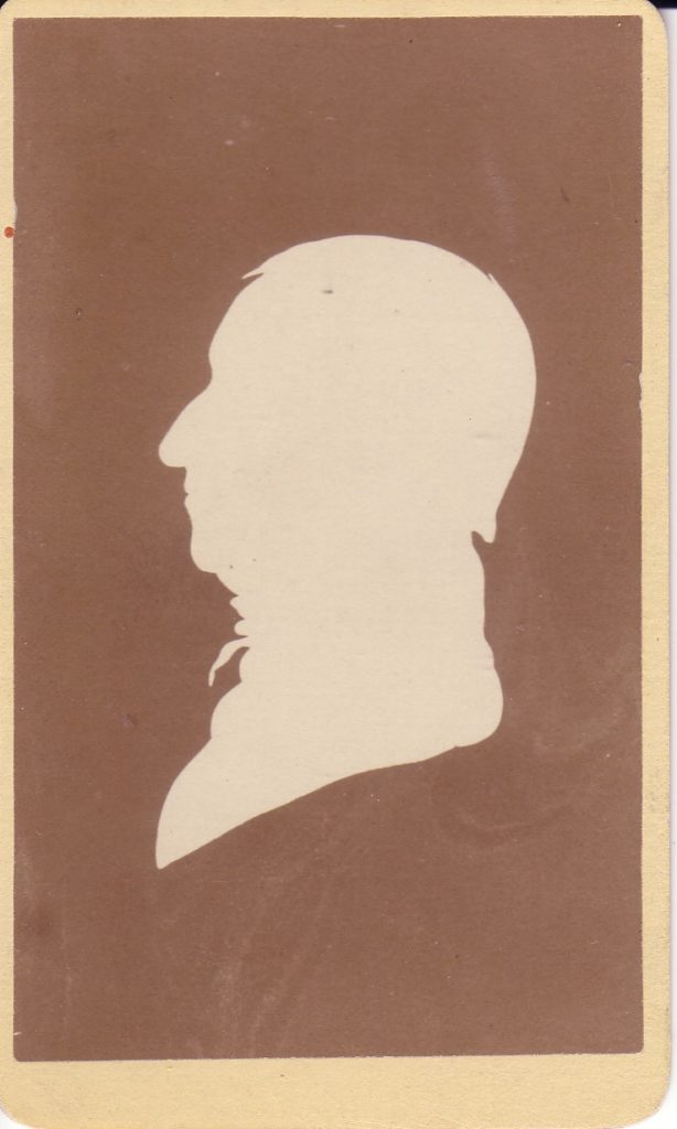 Silhouette of Dr. Benjamin Tredwell, MHM 2002.0328