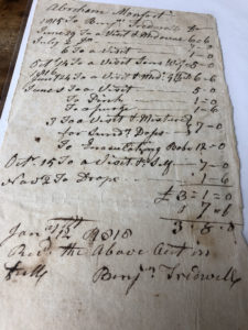 Receipt from Dr. Benjamin Tredwell, 1816. Author's Collection.