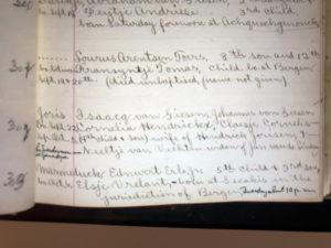 Marmaduke Earle's Birth and Baptism Record. U.S. Dutch Reformed Church Records, 1639-1989. ancestry.com.