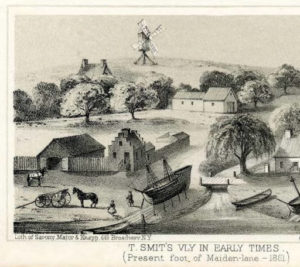 T. Smit's Valley in Early Times. Valentine's Manuel, 1861. Collection of the Boston Athenaeum.