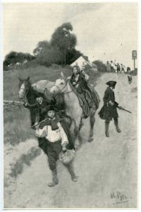 Tory Refugees on their Way to Canada, by Howard Pyle, 1901.