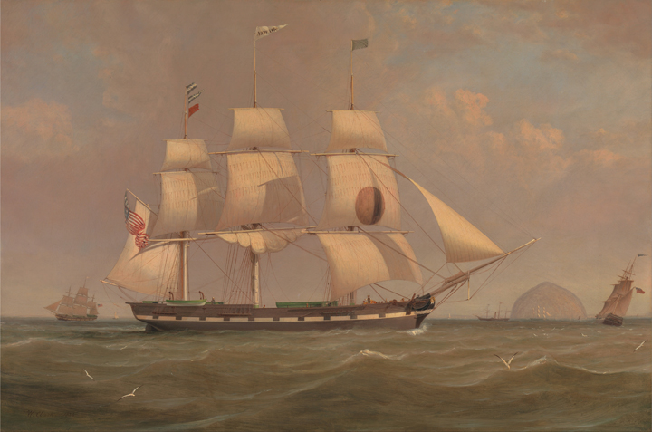 9dbb0ab12a82 The Black Ball Line Packet Ship 'New York,' by William Clark, 1836.