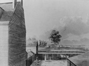 West 11th Street, 1825, showing open fields.